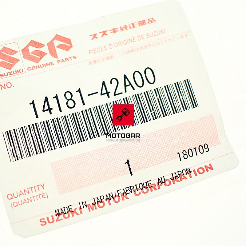 1418142A00 Uszczelka rury wydechu kolektora Suzuki LTF 250 Ozark LTZ 250 QuadSport