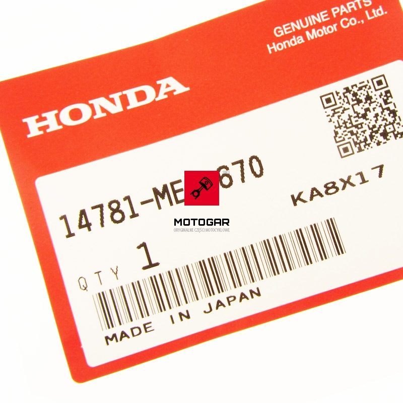 14781MEB670 Zamek zaworu ssącego Honda TRX 450 2004-2009