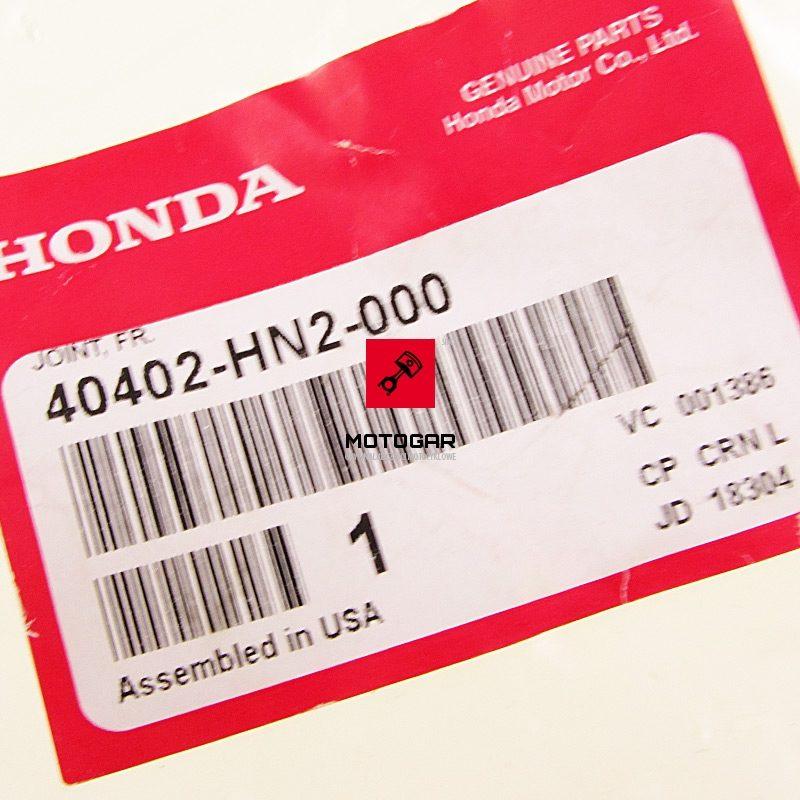 40402HN2000 Tuleja przedniego wału Honda TRX 450 500 FourTrax Foreman
