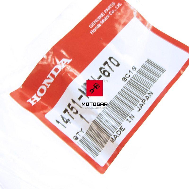 14751MBN670 Sprężyna zaworu zaworowa Honda TRX 700 2008-2011 górna