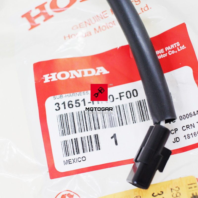 31651HR0F00 Przewód zasilania gniazda ładowania Honda TRX 500 Foreman 2012-2013