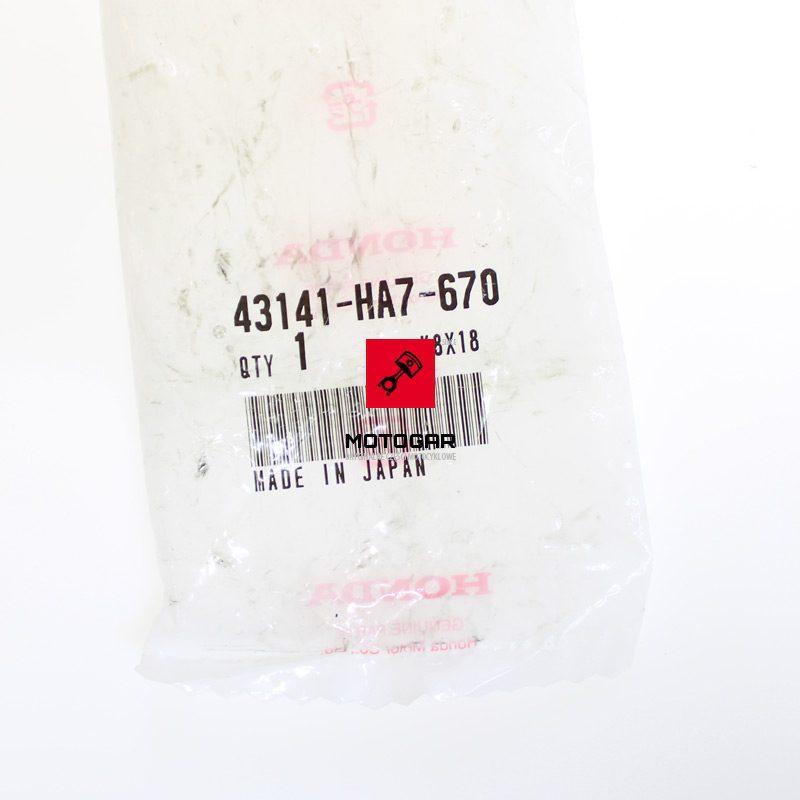 43141HA7670 Wałek hamulca Honda TRX 400 450 500