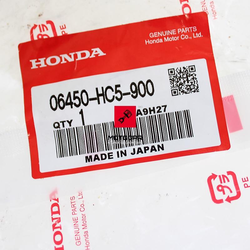 06450HC5900 Szczęki hamulcowe Honda TRX 300 400 Fourtrax Foreman etykieta