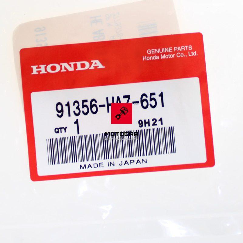 91356HA7651 Oring piasty bębna hamulocwego Honda TRX Fourtrax Rancher