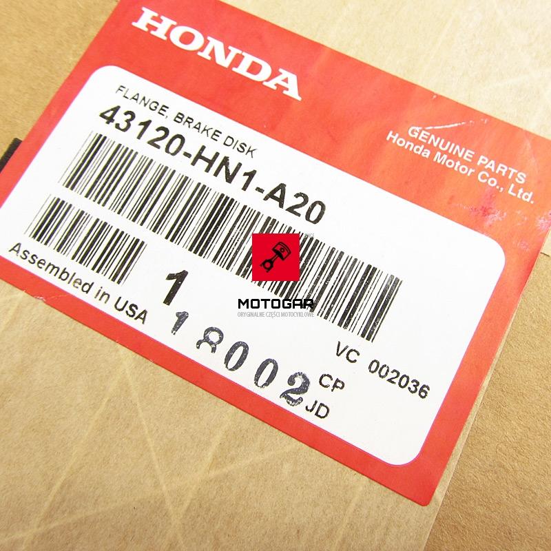 43120HN1A20 Piasta koła Honda TRX Sportrax Fourtrax 400 2000-2008 tylna