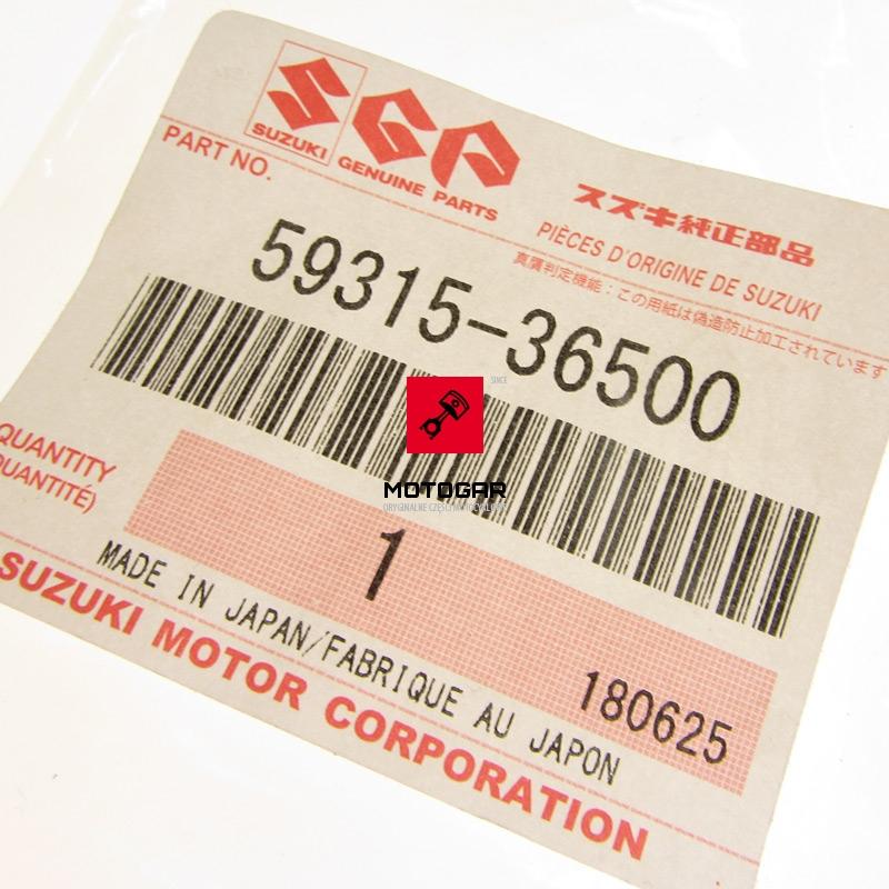5931536500 Sprężyna blaszka klocków hamulcowych Suzuki Vision 500 etykieta