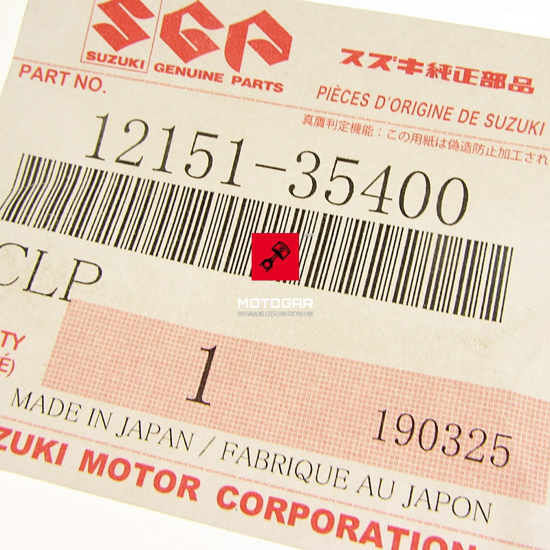 1215135400 Sworzeń tłoka tłokowy Suzuki LT 80 Quadsport 2000-2006