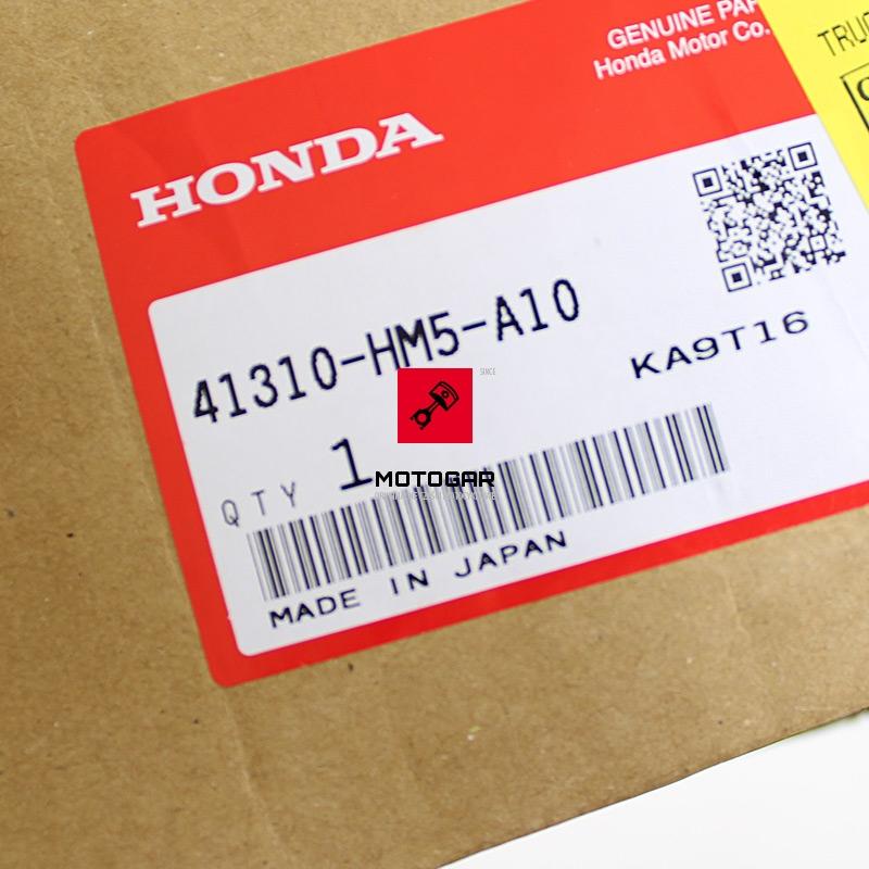 41310HM5A10 Wałek atakujący koło talerzowe Honda TRX 300 Fourtrax 1998-2000 etykieta