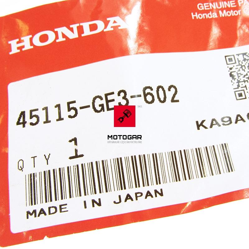 45115GE3602 Sworzeń ślizgowy zacisku hamulca Honda TRX 250 300 400 420 500 etykieta