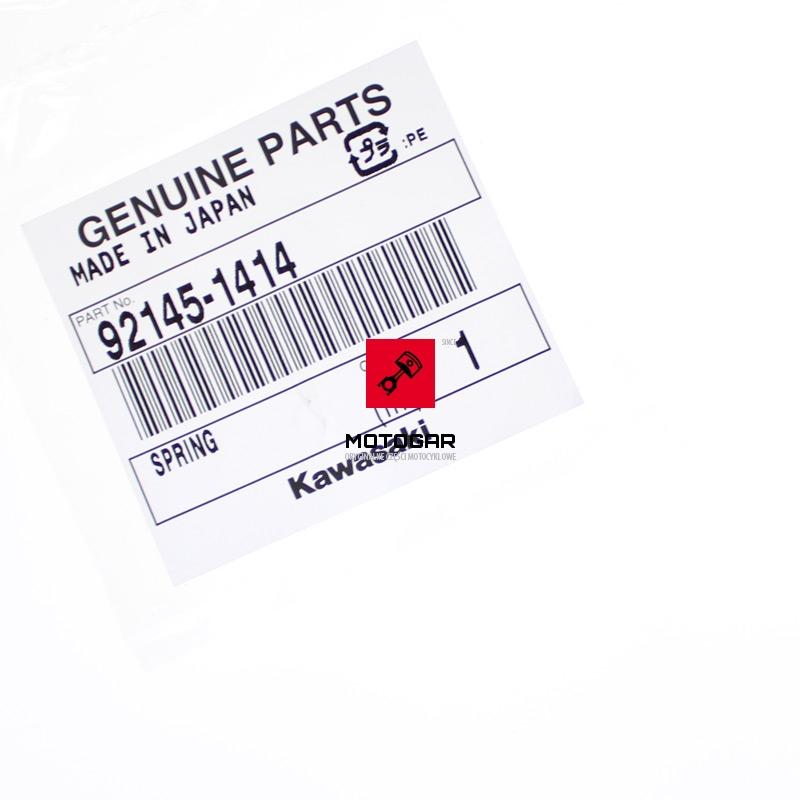 921451414 Sprężyna korka skrzyni biegów Kawasaki KFX 450