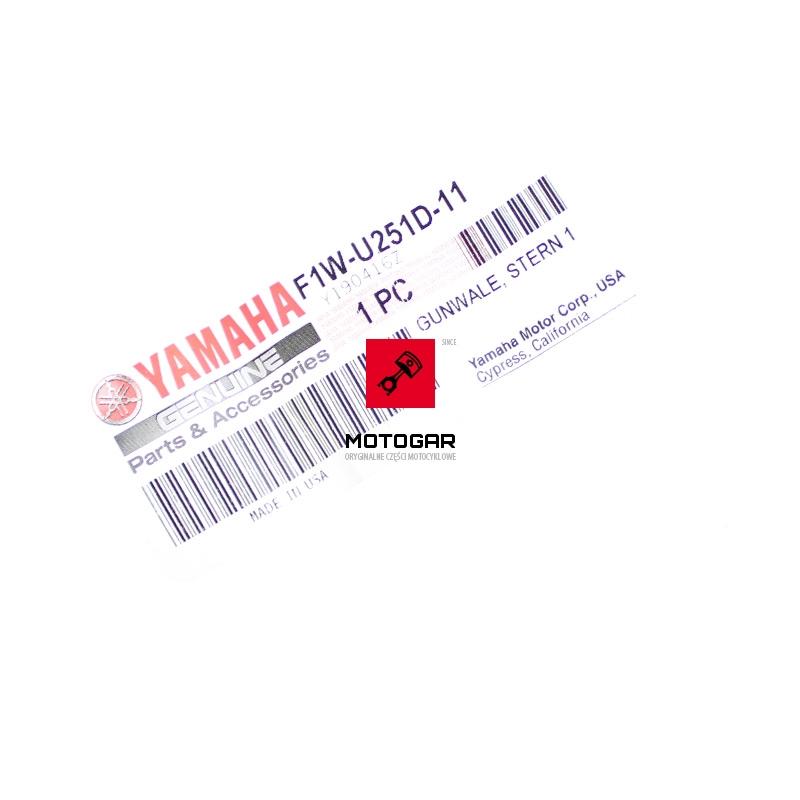 F1WU251D1100 Zderzak odbojnica tylna Yamaha FY GX FX 1800 FY 1100