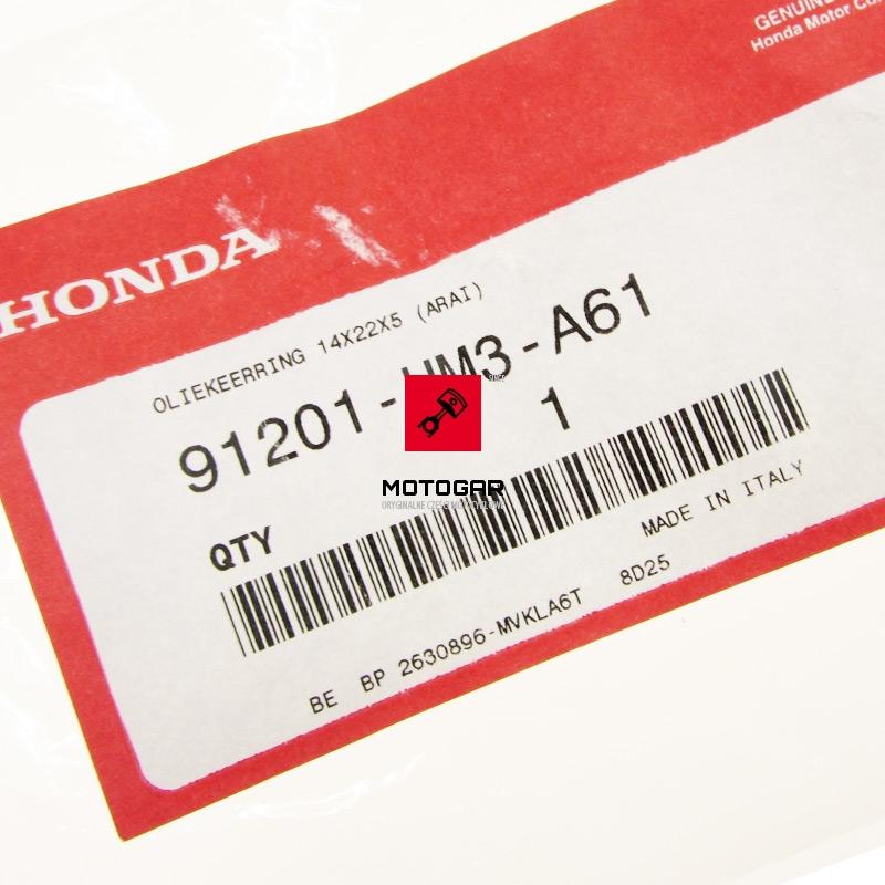 91201HM3A61 Uszczelniacz prawej pokrywy Honda TRX 300 TRX 400 Sportrax Fourtrax