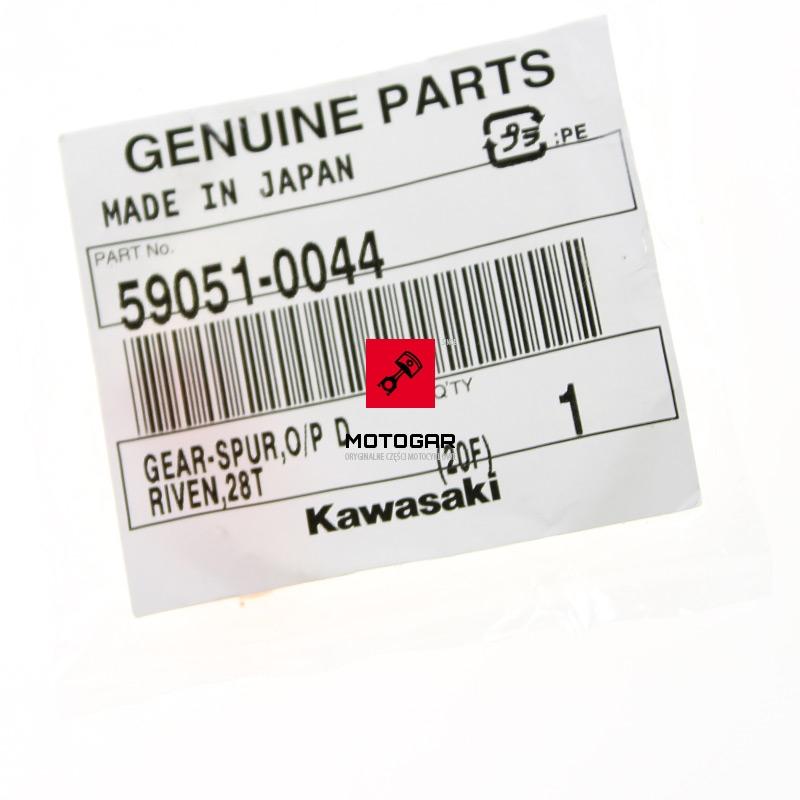 590510044 Zębatka Kawasaki KFX 450R 2008-2014 28 zębów