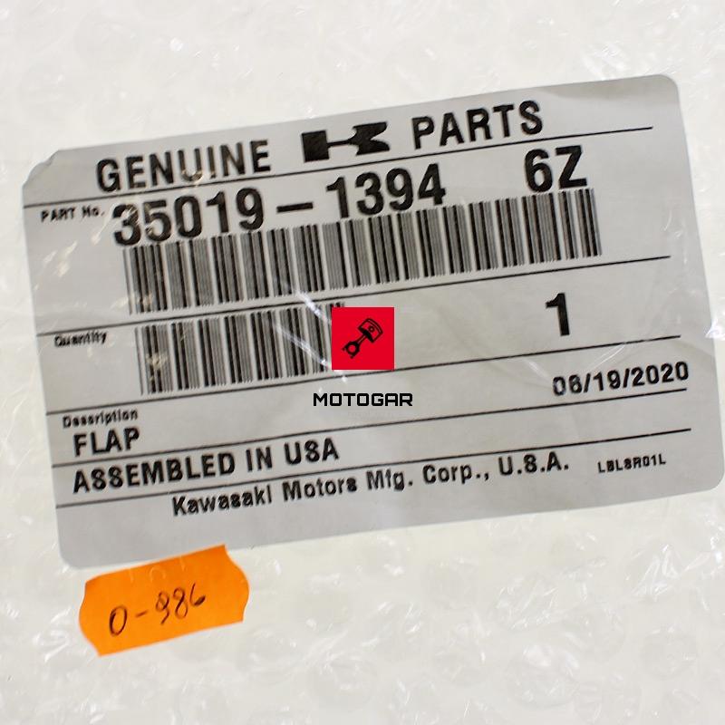 3501913946Z Plastik błotnika Kawasaki KVF 650 2002 2003 tylnego