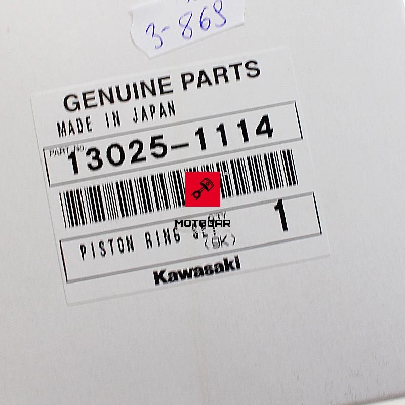 130251114 Pierścienie tłoka tłokowe Kawasaki KVF 400 2000 2001 2002 0.5