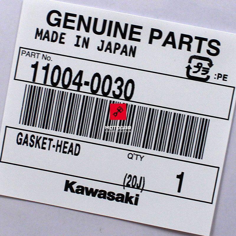 110040030 Uszczelka pod głowice głowicy Kawasaki KVF 650 2002-2011