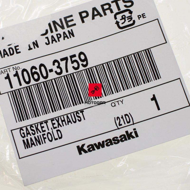 110603759 Uszczelka wydechu Kawasaki JET SKI 650 750 X2 X4