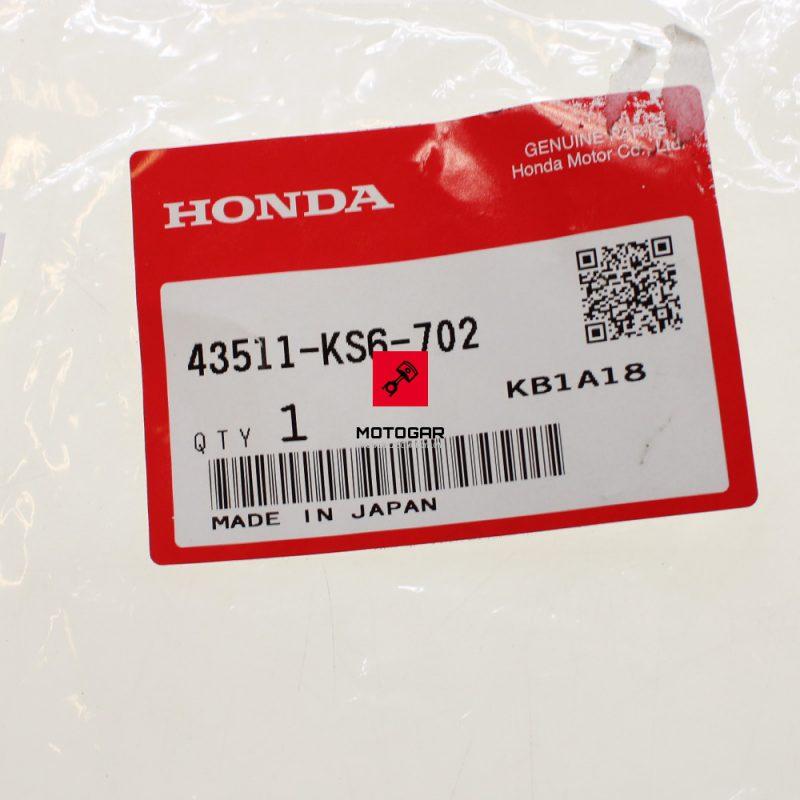 43511KS6702 Zbiorniczek płynu hamulcowego Honda TRX 400 Fourtrax 450 Sportrax