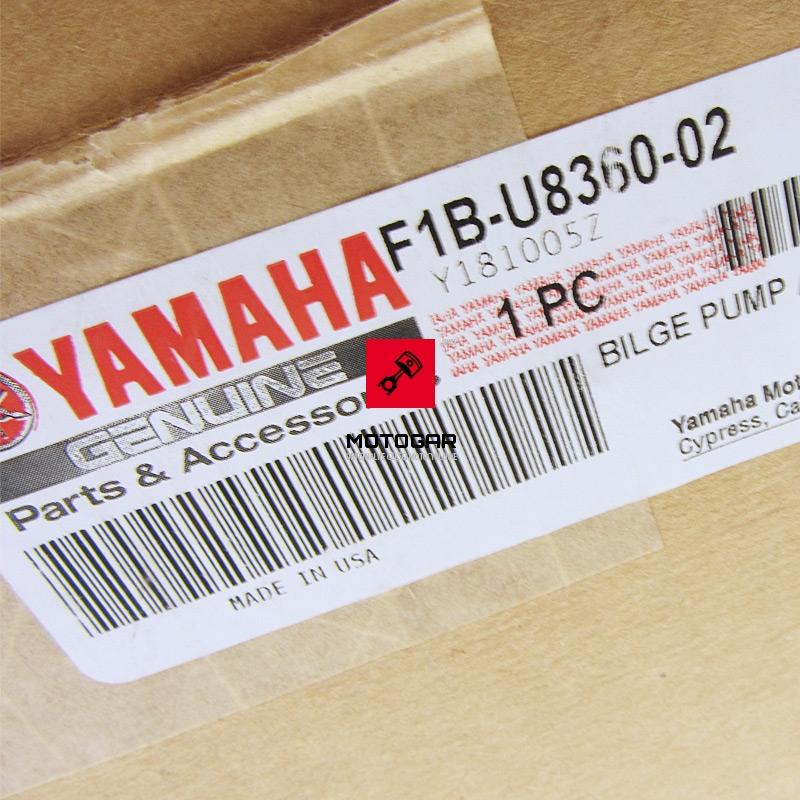 F1BU836002 Pompa zęzowa Yamaha FX FC FB FA GX FY 1000 1100 1300 1800
